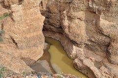 峡谷纳米比亚河tschaub 库存图片