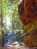 峡谷结构 库存照片