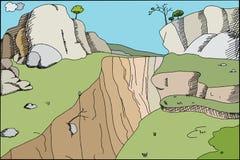 峡谷背景 库存图片