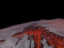 峡谷行星表面 免版税图库摄影