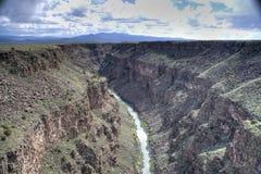 峡谷重创的里约 免版税库存图片