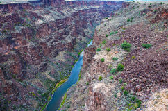 峡谷重创的里约 库存照片