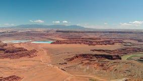 峡谷鸟瞰图在犹他,美国 免版税库存图片