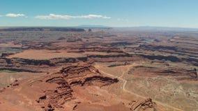 峡谷鸟瞰图在犹他,美国 免版税库存照片
