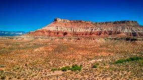 峡谷鸟瞰图在犹他,美国 库存照片