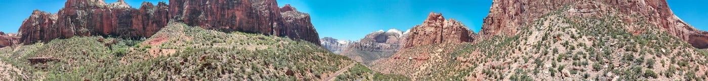 峡谷鸟瞰图在犹他,美国 库存图片