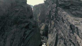 峡谷鸟瞰图 股票录像