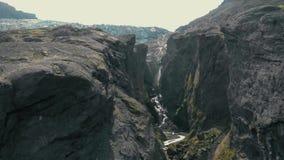 峡谷鸟瞰图 影视素材