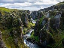 峡谷,冰岛 库存照片