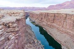 峡谷,科罗拉多河 库存照片