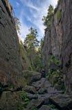 峡谷 库存照片