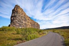 峡谷Asbyrgi,冰岛 图库摄影