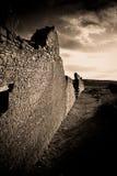 峡谷chaco公园废墟 图库摄影