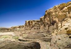 峡谷chaco废墟 库存图片