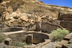 峡谷chaco废墟 库存照片
