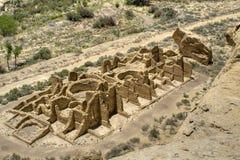 峡谷chaco废墟 免版税图库摄影