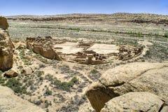 峡谷chaco废墟 免版税库存图片