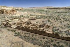 峡谷chaco废墟 免版税库存照片