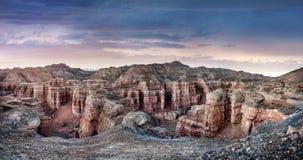 峡谷charyn卡扎克斯坦 免版税库存照片