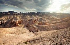 峡谷charyn卡扎克斯坦 免版税库存图片
