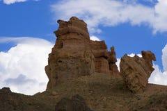 峡谷charyn riwer岩石 库存图片