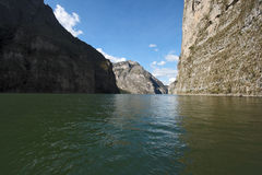 峡谷chiapas del墨西哥sumidero 免版税库存照片