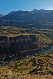 峡谷colca秘鲁 库存照片