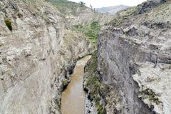 峡谷colca 库存图片