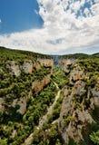 峡谷de foz lumbier西班牙 免版税库存照片
