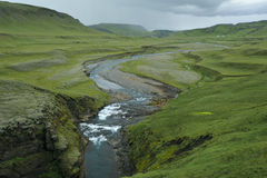 峡谷fjadrargljufur冰岛 库存图片