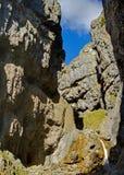 峡谷gordale伤痕 库存照片