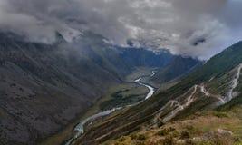 峡谷Katu-Yaryk 库存照片