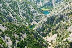 峡谷krupa河 库存图片