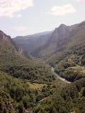 峡谷montenegro 免版税库存照片