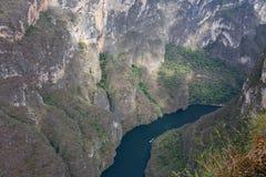 峡谷Sumidero,恰帕斯州,墨西哥 库存图片