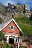 峭壁东部缆索铁路的小山铁路 免版税库存照片