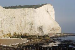 峭壁东部seaford苏克塞斯英国白色 图库摄影