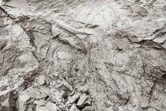 峭壁侵蚀 泥,自然黏土,镇压在岩石背景中 库存照片