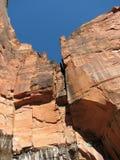 峭壁分开的zion 库存图片