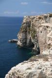 峭壁南马耳他的点 免版税库存照片