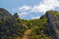 峭壁和天空 免版税库存图片