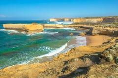 峭壁和岩层,维多利亚澳大利亚 免版税库存图片