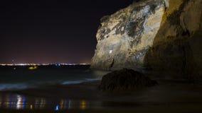 峭壁在晚上 库存照片