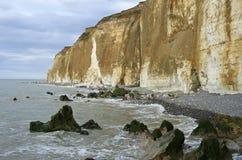 峭壁在诺曼底 免版税库存图片
