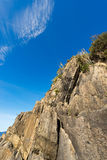 峭壁在里奥马焦雷利古里亚意大利 图库摄影