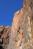 峭壁在锡安国家公园,犹他 免版税库存照片