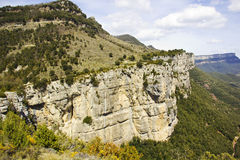 峭壁在Rupit自然公园  免版税库存照片