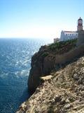 峭壁地中海海边 免版税库存图片