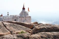 峭壁寺庙顶层 图库摄影