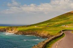 峭壁幽谷爱尔兰半岛 免版税库存照片
